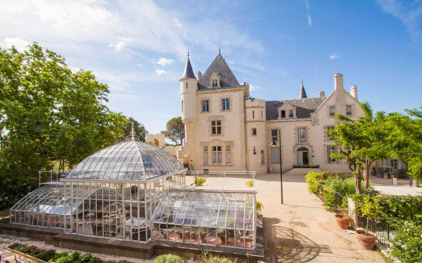 French Wine Estate Chateau View with The Little Voyager