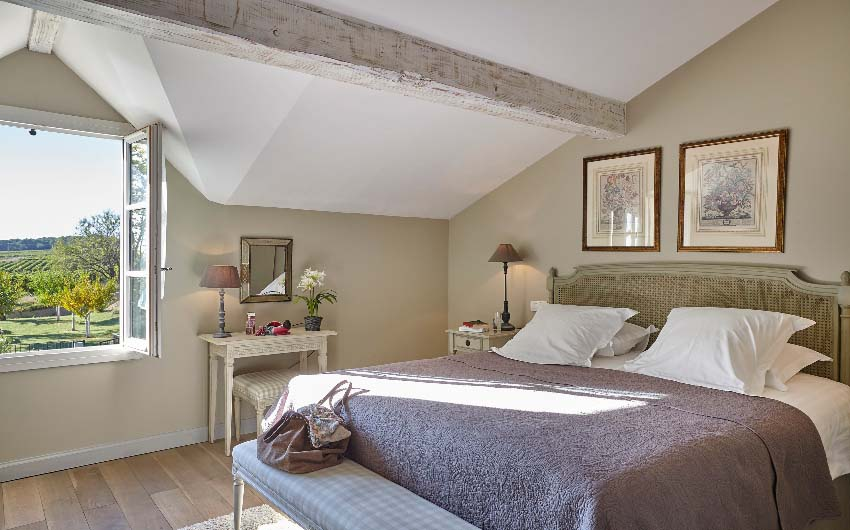 French Wine Estate Double Bedroom with The Little Voyager
