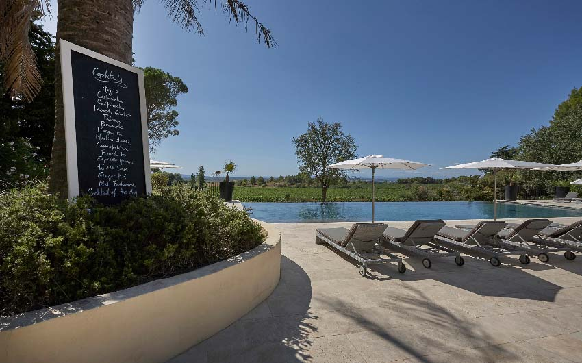 French Wine Estate Swimming Pool with The Little Voyager