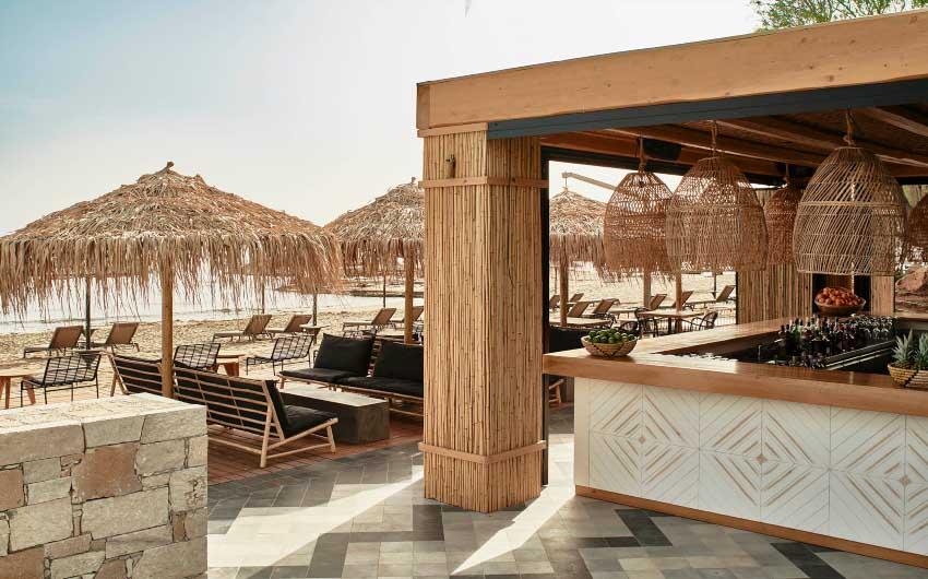 Cretan Nature Resort Beach Bar with The Little Voyager