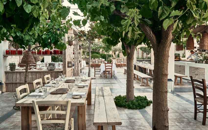 Cretan Nature Resort Outdoor Restaurant with The Little Voyager