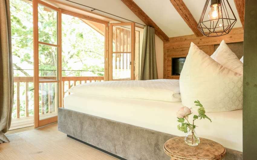 The Bavarian Farm Main Bedroom with The Little Voyager