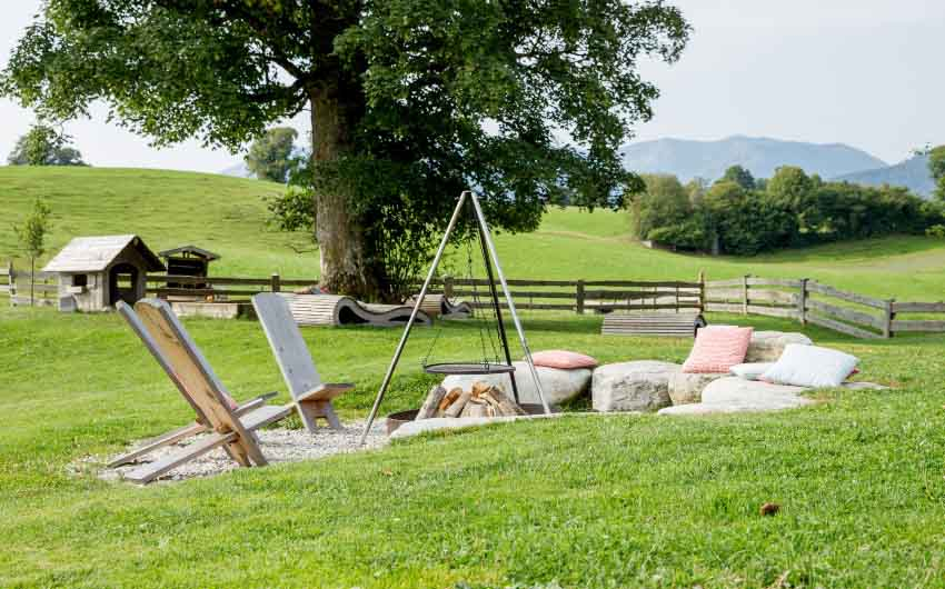 The Bavarian Farm Outdoor Seating with The Little Voyager