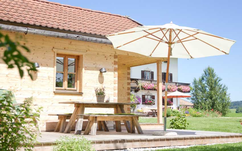 The Bavarian Farm Patio with The Little Voyager