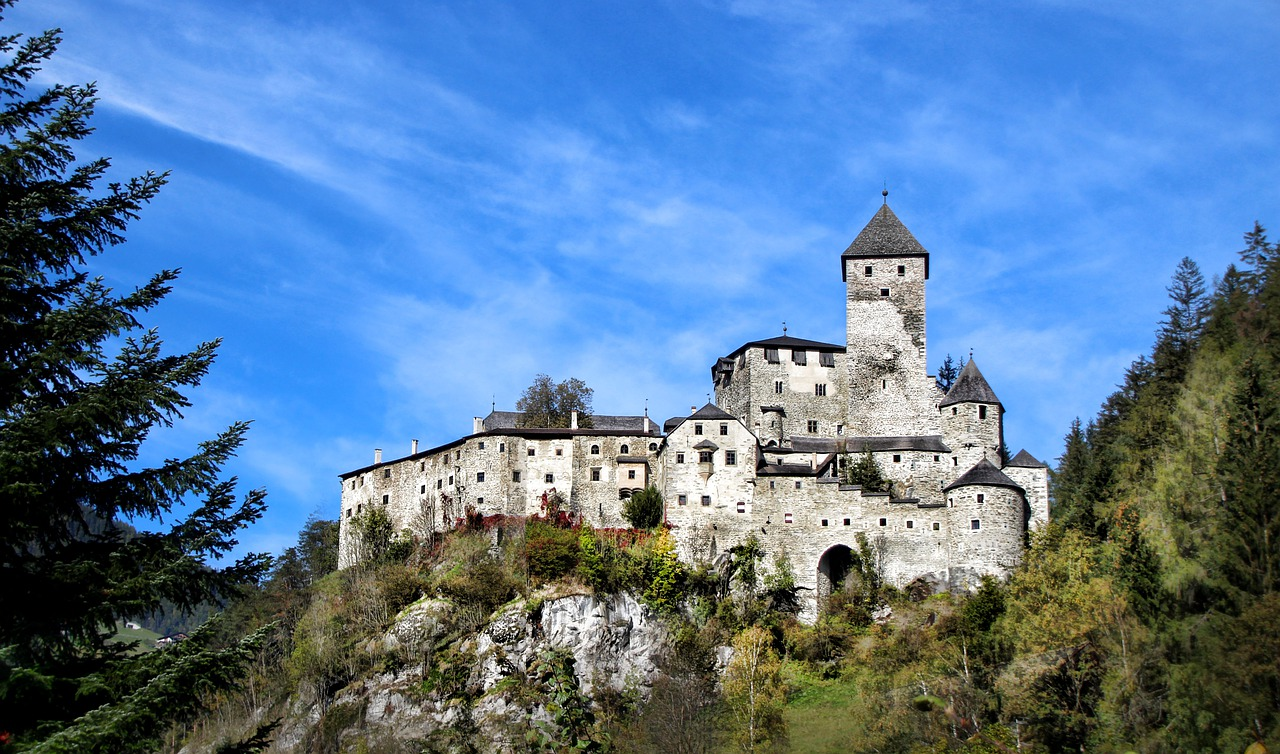 Taufers Castle in South Tyrol, Italy