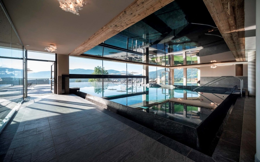 Indoor pool at the South Tyrolean Panorama Retreat