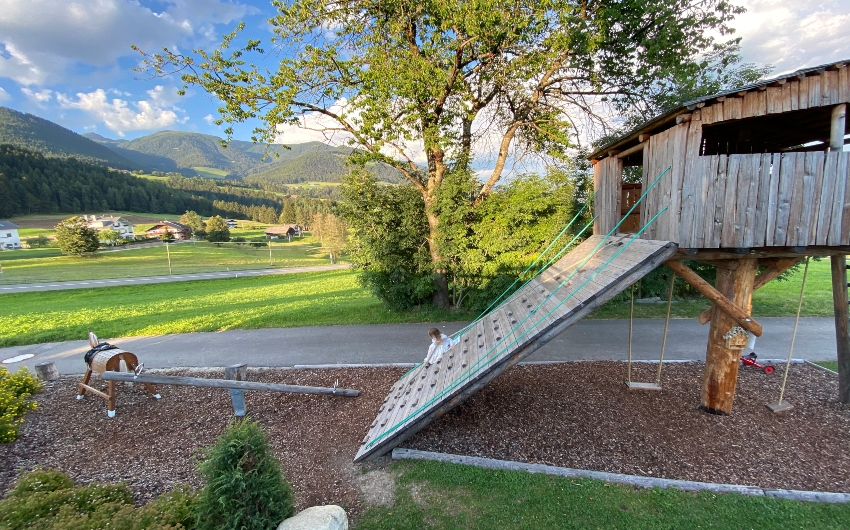 Playground at the South Tyrolean Panorama Retreat