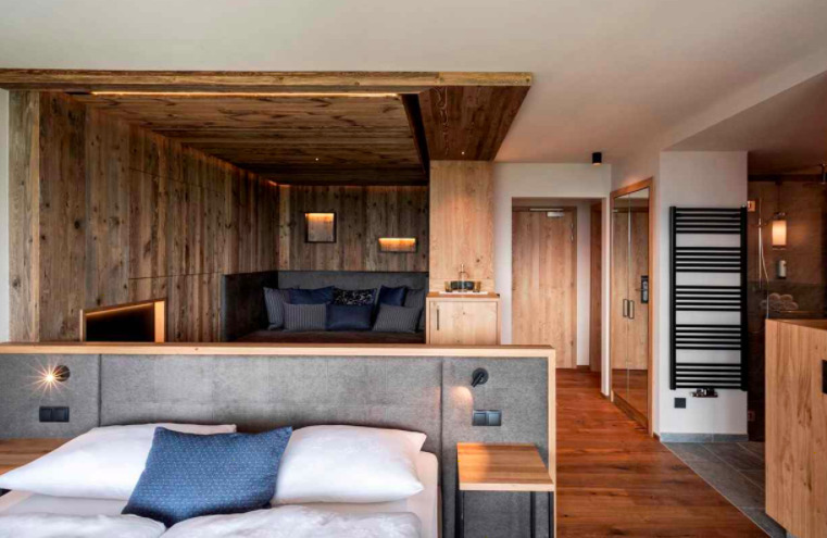 Family room at the South Tyrolean Panorama Hotel