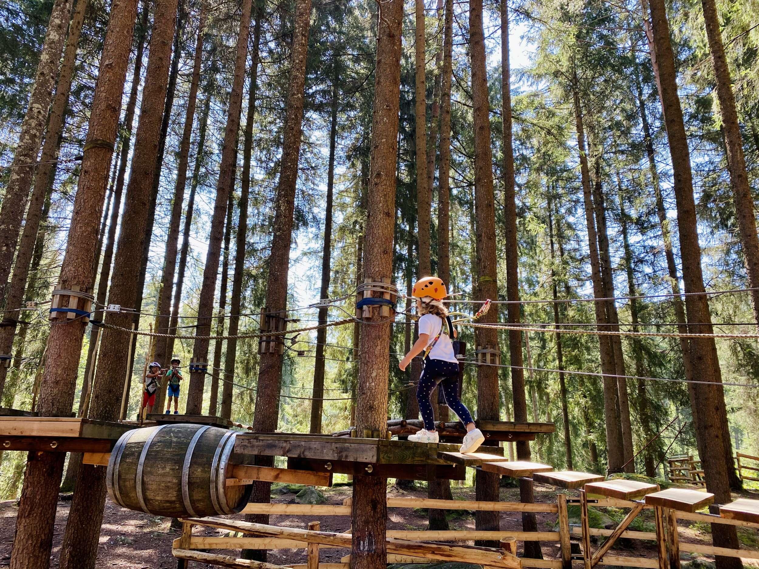 Girl at climbing park