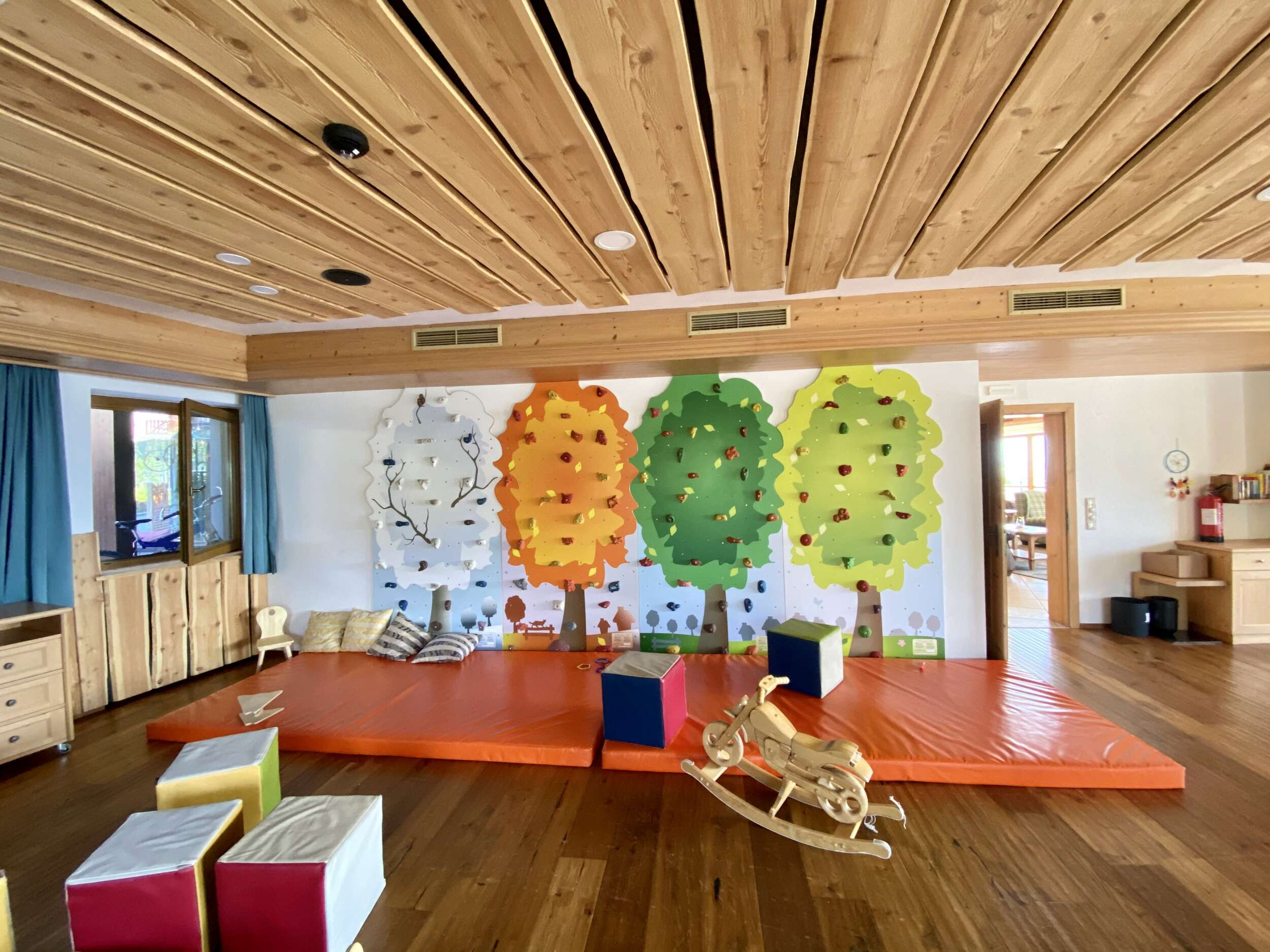 Indoor playroom at the South Tyrolean Panorama Hotel