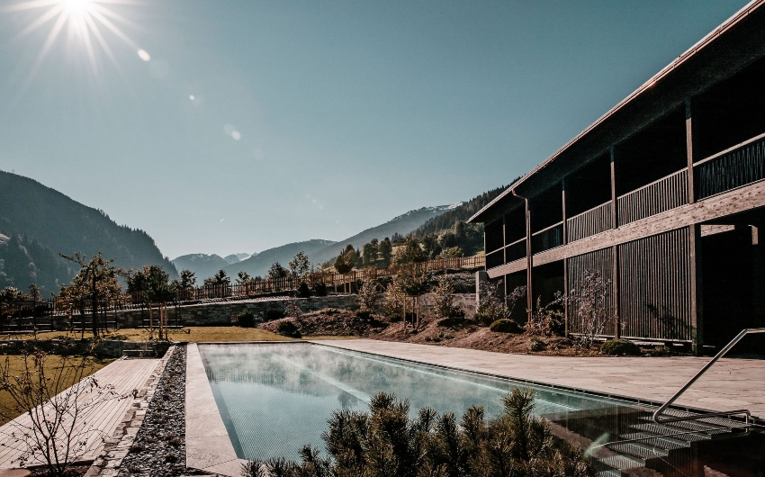 Outdoor pool at the Austrian Nature Retreat